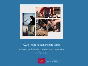 Quiz : les sans-papiers et le travail